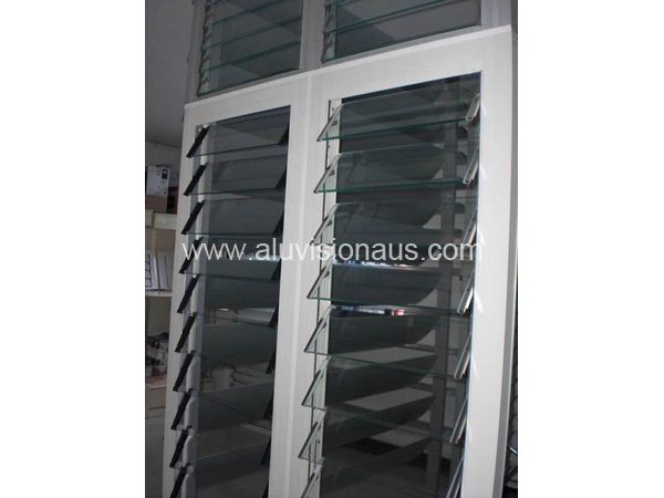 Glass Louver Aluminum Window with AS2047 in Australia & NZ