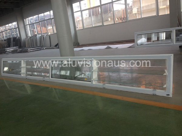New product adjustable glass louver aluminum window passed AS2047