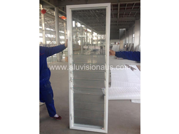 Aluminum window glass shutter & louver with fly screen comply to AS2047 standard