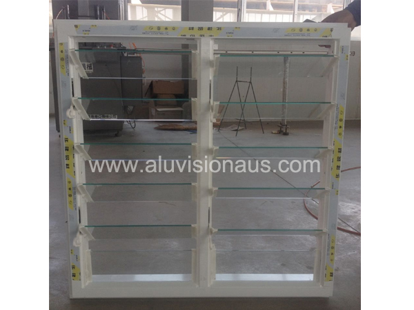 Aluminum louver window with adjustable glass shutter passed AS2047 standard