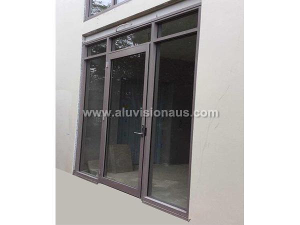 Aluminum Frame Side Hinged Door Passed AS2047 Standard