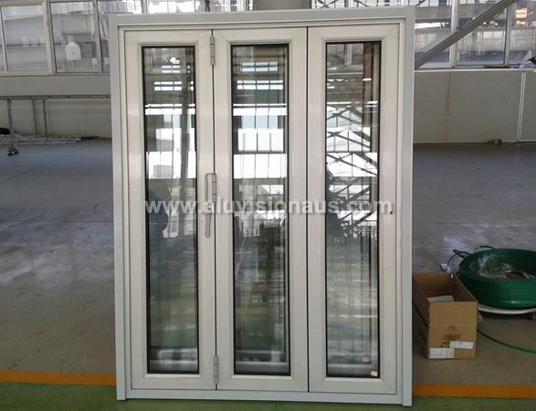 Commercial FL76 Series 3 sashes Bi folding sliding window passed AS2047 standard