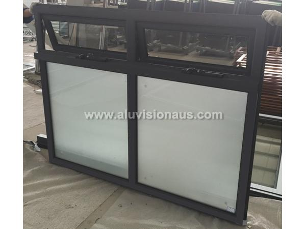 FL50Y Series Aluminum Awning Window With Frosted Glass Passed AS2047 Standard