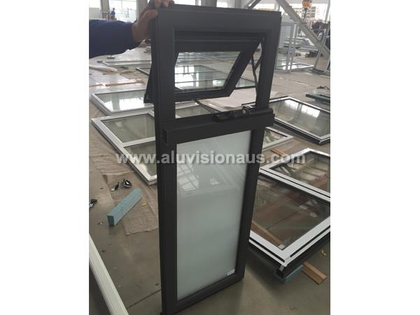 Aluminum Winder Awning Window With Frosted Glass Passed AS2047 Standard
