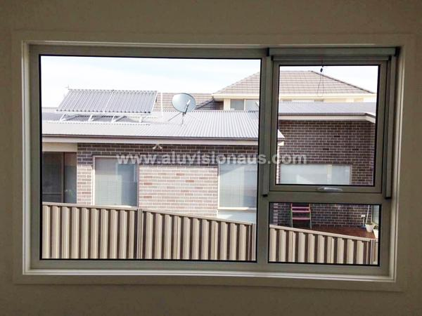 Aluminum Awning Window & Fixed Window With Retractable Flyscreen Passed AS2047 Standard