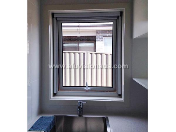 Exported Aluminum Awning Window With Retractable Flyscreen Passed AS2047 Standard