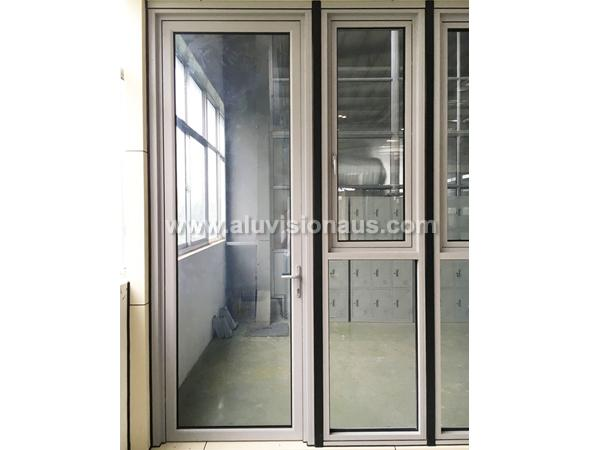 FL100 Series Commercial Aluminum Side Hinged Door With AS2047 Standard