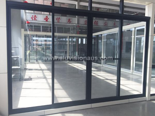 Sliding Door & FL120 Series Aluminum Frame 4 Sashes Sliding Door With Flyscreen ...