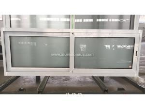 FLGR58 series thermal insulation sliding window with obscure glass passed AS2047 certification