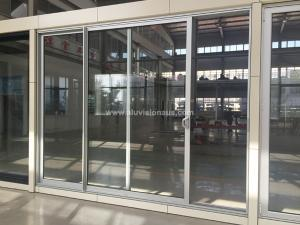 FL100 Series Commercial 2 Sashes Aluminum Sliding Door With AS2047 Standard